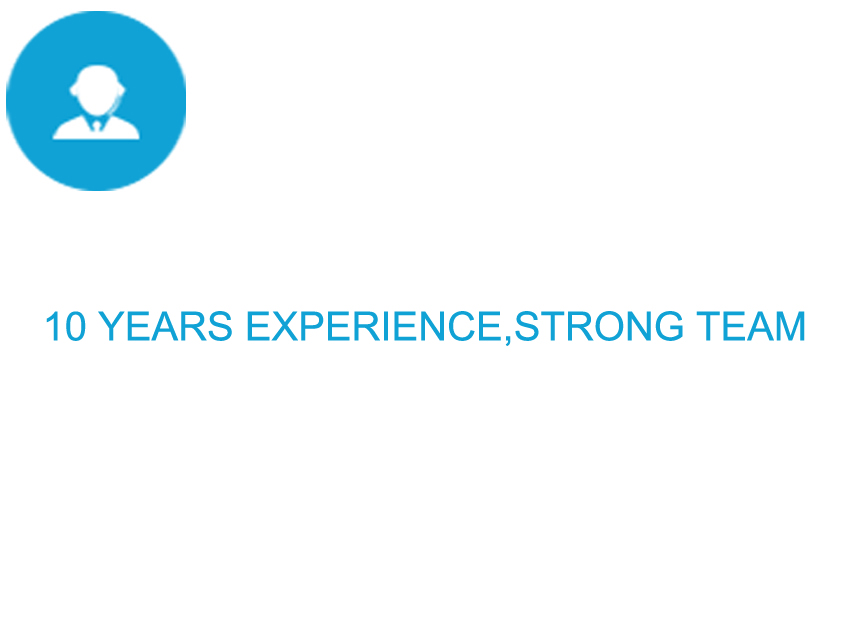 10 years experience,strong team
